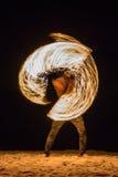 Pożarnicze gry na plaży - Koh Samui, Tajlandia - Zdjęcie Stock