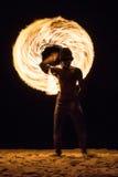 Pożarnicze gry na plaży - Koh Samui, Tajlandia - Zdjęcie Royalty Free