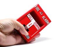 Pożarniczego alarma ciągnienia stacja obraz royalty free
