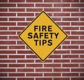 Pożarniczego bezpieczeństwa porady Fotografia Stock