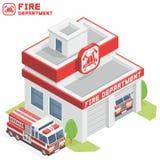 Pożarniczego działu budynek Obraz Stock