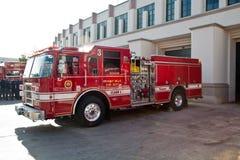 Pożarniczego działu ciężarówka Zdjęcia Royalty Free