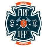 Pożarniczego działu emblemat ilustracja wektor
