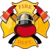 Pożarniczego działu odznaka Obrazy Royalty Free