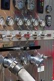 Pożarniczego działu pompy panel obraz royalty free