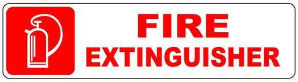 Pożarniczego gasidła znak Zdjęcie Royalty Free