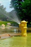 pożarniczego hydranta opryskiwanie zdjęcie stock