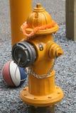 Pożarniczego hydranta przyjęcie zdjęcia royalty free