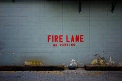 pożarniczego pasa ruchu ściana Fotografia Royalty Free