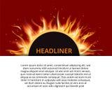 Pożarniczego układu papieru pojęcia łatwy editable Obraz Stock