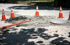 pożarniczego wąż elastyczny manhole otwarty Fotografia Royalty Free
