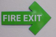 Pożarniczego wyjścia znak obraz royalty free