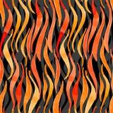 Pożarniczej płomień akwareli wektorowy bezszwowy model dla projekta o Obrazy Stock
