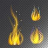 Pożarniczej płomienia oparzenie gorącej wektorowej ikony ciepły niebezpieczeństwo i kulinarnego żółtego ogniska lekki płonie ogni royalty ilustracja