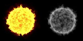 Pożarniczej piłki słońce ilustracja wektor