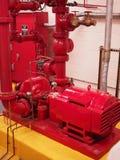 Pożarniczej pompy Standpipe i kropidła systemy Obrazy Royalty Free