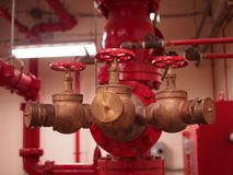 Pożarniczej pompy Standpipe i kropidła systemy Obraz Royalty Free