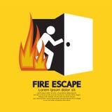 Pożarniczej ucieczki grafiki znak Zdjęcia Stock