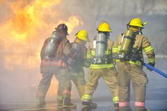 pożarniczy ćwiczenia szkolenie Fotografia Royalty Free