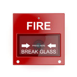 Pożarniczy alarm ilustracja wektor