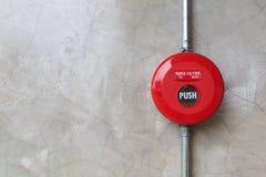 Pożarniczy alarm na ścianie Fotografia Stock
