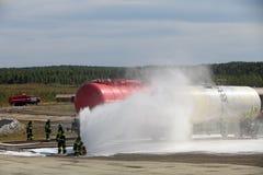 Pożarniczy bój Fotografia Stock