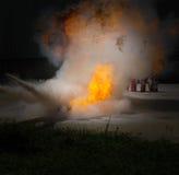 Pożarniczy bój zdjęcia royalty free