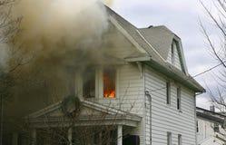 pożarniczy dom obraz stock