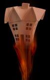 pożarniczy dom Zdjęcie Stock