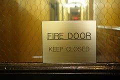 Pożarniczy drzwi Obraz Royalty Free