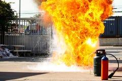 Pożarniczy dział Fotografia Stock