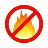 Pożarniczy flammable symbol, hazzard płomienia znak Zbawczego przerwa oparzenie ostrzegawcza ikona ilustracji