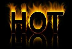 pożarniczy gorący słowo Zdjęcia Royalty Free