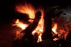 Pożarniczy hearth Puryfikacja ogieniem zdjęcie royalty free