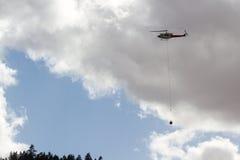Pożarniczy helikopter fotografia stock