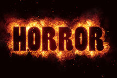 Pożarniczy horror dla horroru płomienia wakacyjnego projekta ilustracja wektor