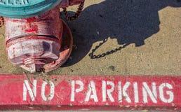 Pożarniczy hydrant przy chodniczkiem w Placerville zdjęcia royalty free