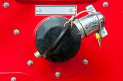 Pożarniczy hydrant, węża elastycznego związek, pożarniczego boju wyposażenie dla ogienia Fotografia Stock