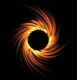 Pożarniczy kłębowisko tła czerń projekta zaćmienia ilustracja słoneczna Zdjęcia Royalty Free