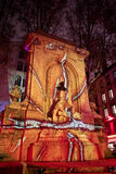 pożarniczy koło Fête des Lumières, Lion - fotografia stock
