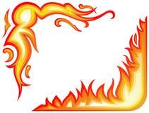 pożarniczy kolaży płomienie royalty ilustracja