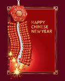 Pożarniczy krakersa chińczyka nowy rok. ilustracja wektor