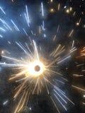 Pożarniczy krakersy podczas Diwali obrazy stock