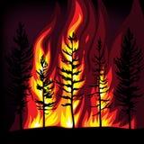 pożarniczy las ilustracji