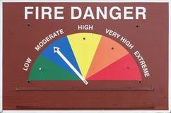 Pożarniczy niebezpieczeństwo znak zdjęcie royalty free