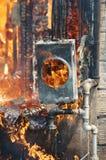 Pożarniczy oparzenie Obraz Royalty Free