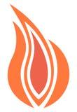 Pożarniczy płomień ilustracji