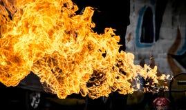 Pożarniczy płomień tekstury tło Obrazy Royalty Free
