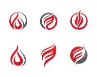 Pożarniczy płomienia loga szablon ilustracja wektor