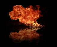 pożarniczy płomienie zdjęcia stock